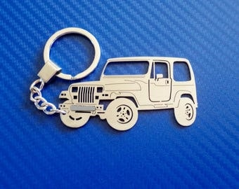 Jeep Wrangler Key chain, Personalized Keychain, Car Keychain, Keyring for Jeep Wrangler, Custom Keychain, Stainless Steel Keyring, Xmas Gift
