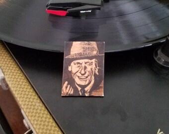 Frank Sinatra - Lapel Pin - Pen and Ink - Shrink Plastic