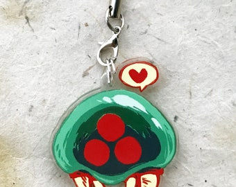 """Metroid """"1.5 Acrylic Charm - Keychain or Cell Phone Strap"""
