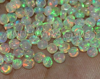 Natural ETHIOPIAN OPAL, 3.5 mm to 4 mm Size - Loose Opal Beads - Multi Fire Opal Beads - High Quality Ethiopian Opal Beads Cb#763