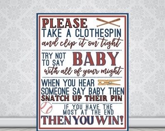Baseball Baby Shower Game | 8.5 x 11 | Instant Download | Baby Shower Games Printable | Boy Baby Shower Ideas | Boy Baby Shower Activities