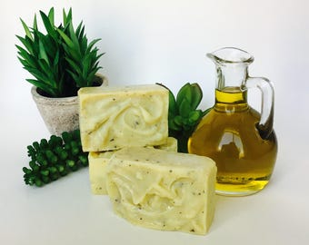 almond & honey organic soap bar