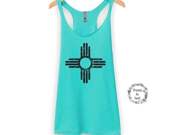New Mexico Tank Top | New Mexico Shirt - New Mexico - Zia tank Top - Racerback Tank Top