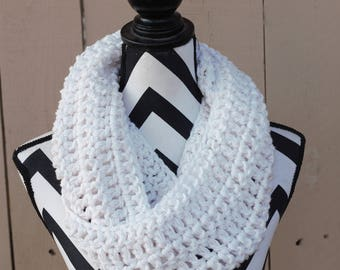 Ready to Ship Antique White Infinity Scarf