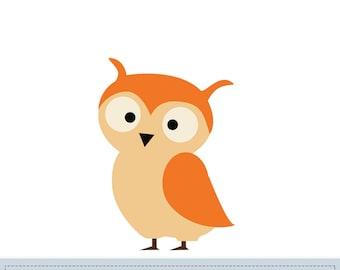 Owl Applique Pattern, Owl Applique Template, Animals, Woodland, DIY, Children, Instant Download Digital Pattern