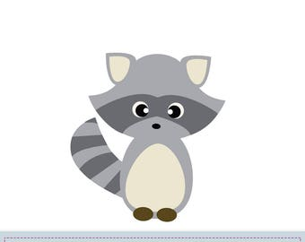 Raccoon Applique Pattern, Raccoon Applique Template, Animals, Woodland, DIY, Children, Instant Download Digital Pattern