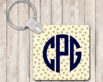 Monogram Keychain ~ Personalized Keychain ~ Square Keychain ~ Key Chain ~ Custom Keychain ~ Key Tag ~ Sweet Sixteen Gift