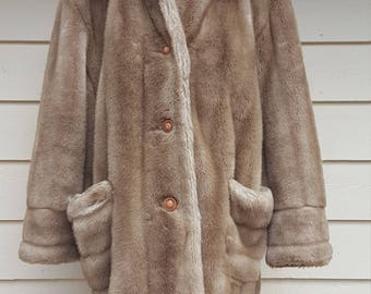 Vintage 1960's Faux Fur Coat