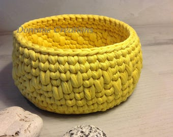 Bright yellow, violet basket