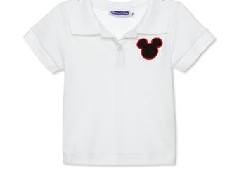 Appliqued Mouse Ears Collared polo Shirt