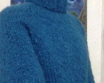 Mohair sweater in blue