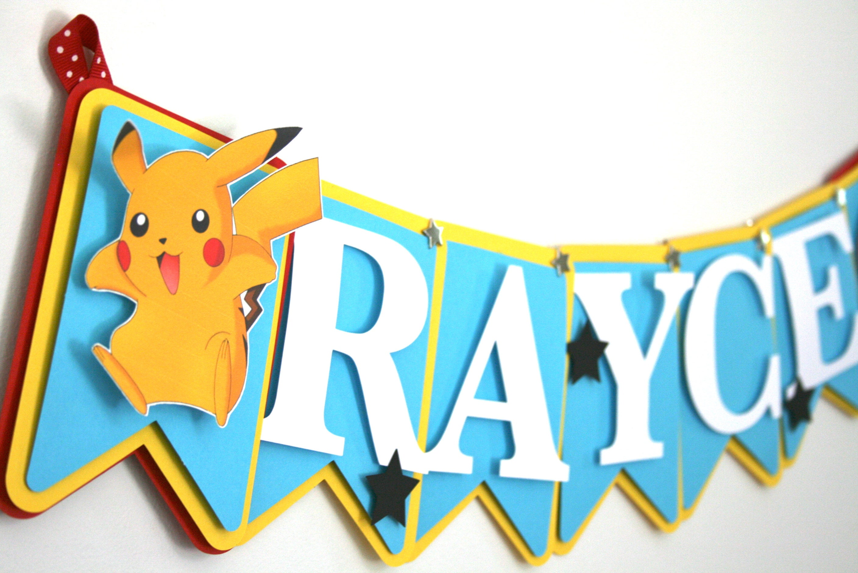 Pokemon Birthday Decoration Pokemon Themed Banner Pokemon