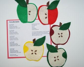 Five Little Apples Flannel Board Story