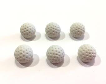 """Mini Golf Ball Buttons (1/2"""") Buttons Galore Golf Set of 6 Shank Back - 903 A"""