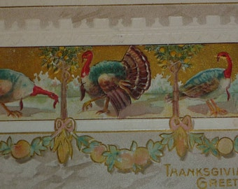Thanksgiving Greetings Anttique Postcard