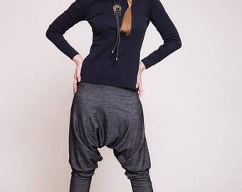 FLASH SALE Women harem pants, Drop-crotch pants, women trousers, black jeans pants, chic pants   sizes : XS / S / M / L / Xl
