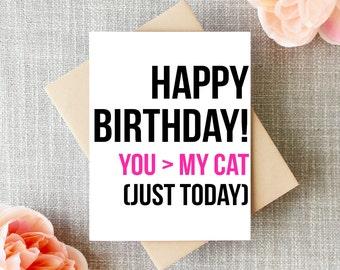 Birthday Card - Birthday Card Funny - Cat Card Birthday  - Blank Birthday Card - Humor Card - Crazy Cat Lady Card - Cat Lover Card