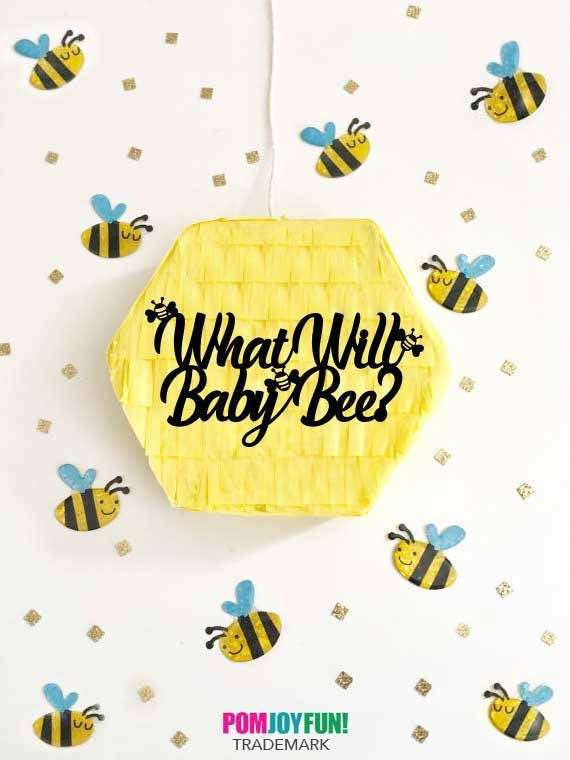 What Will Baby Bee Pinata Gender Reveal Pull String