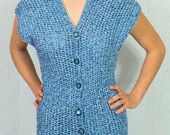 Front Button Dress Crochet Pattern