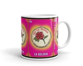 La Delicia / MAZAPAN Mexican Candy Loteria Card / art by serpenthes Mug