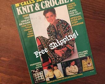 Rare Vintage 1978 McCalls Super Book of Knit & Crochet - Softcover - Free Shipping