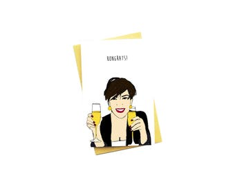 Funny Congratulations Card...New Job Card...New House Card...Graduation Card...Kris Jenner...Momager...Kardashian...Kongrats