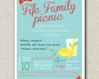 Family Reunion Picnic Invitation
