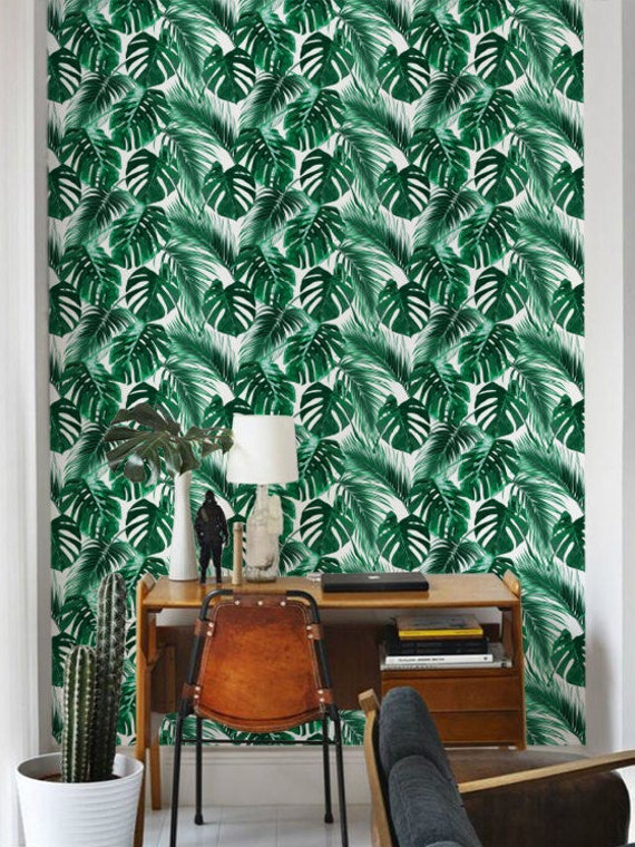 superbe feuille de palmier fond d cran amovible auto. Black Bedroom Furniture Sets. Home Design Ideas