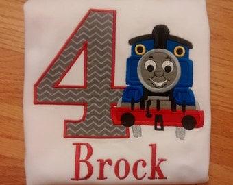 Personalized Thomas/Train Birthday Shirt