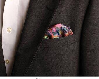 Pocket Square, Pink, Blue, Green, Magenta, Men's Fashion, Fashion Accessories