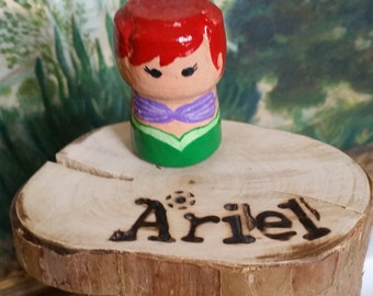 Disney Inspired Ariel Cork Character with stand
