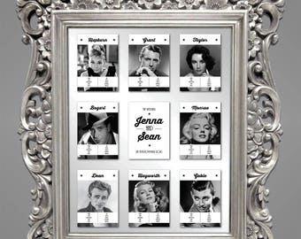 Hollywood Movie Wedding  |  Table Plan Cards, Table Cards and Place Cards [Printable - Digital Only]