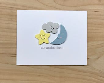 Baby Shower Congratulations Card, Cute Baby Shower Card, New Baby  Congratulations Card, Baby