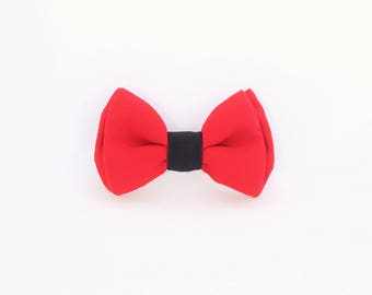 Red switchable bow tie man and woman