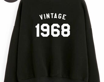 Vintage Sweatshirt 50th birthday sweatshirt 1968 tshirt family mom shirt dad gifts sweatshirt crewneck sweater birthday funny gift tshirt