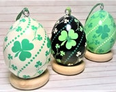 Shamrock Ornament, Pysanky Ornament, St. Patrick's Day Shamrock, Ukrainian Eggs, Pysanky Eggs, Irish Easter, St Patrick's Day, Easter Egg