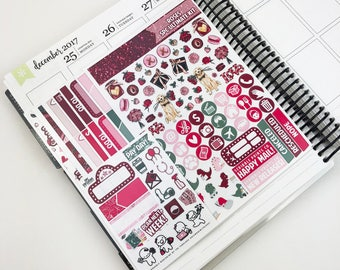 Roses // Ultimate Weekly Planner Kit (Glossy Planner Stickers)