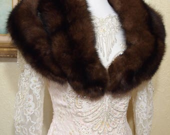 ONE SIZE FITS All Genuine Barguzin Russian Sable Fur Stole fur mink stole