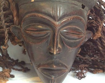 FREE SHIPPING - Vintage African Tribal Mask - Wall Decor - Artifact #17