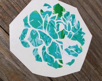 Lilly Pulitzer Succulent Vinyl Decal, Vinyl Stickers, Laptop Decal, succulent Car Sticker, Laptop Sticker, Sticker, First Impressions Green