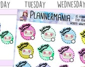 Zone Cleaning Sticker Cleaning Planner Stickers, Living Room - 202