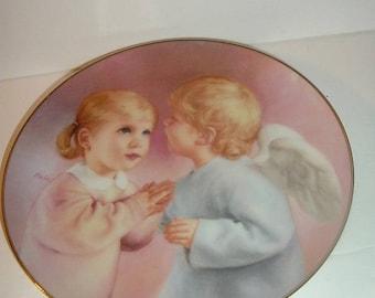 1991 Artaffects Heavenly Angels Angels Kiss Plate