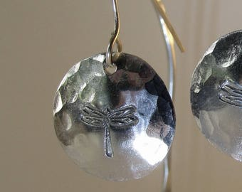 Dragonfly dangle earrings.