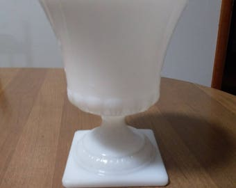 Milk Glass Vase/Pedestal Vase/Urn