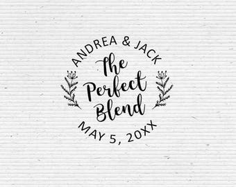 Personalized Save the Date, Wedding Stamp The Perfect Blend BRS006-WEDDING