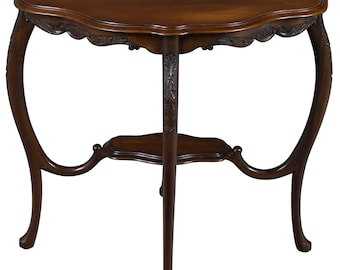 Antique Shaped Top Accent Table
