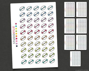 Rugby Icons - Football Icons -Planner Stickers -Repositionable Matte Vinyl to suit all planners