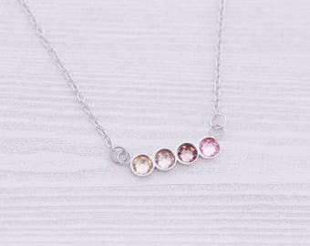 4 Birthstone Bar Necklace - New Mom Gift - New Baby Gift - Kids Name Jewelry - Engraved Jewelry - Bar Pendant - Bar Necklace