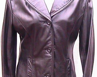 Medium Vintage maXima by Wilsons Black Leather Jacket