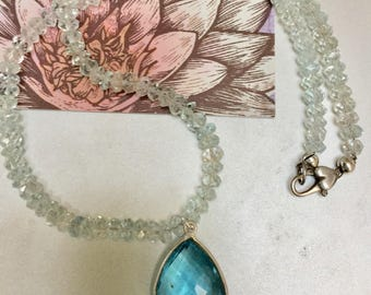 Aquamarine Birthstone Necklace